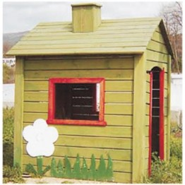 Ahşap Çiçek Figürlü Oyun Evi