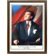 Atatürk Resmi-Ahşap