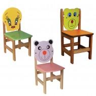 Figürlü Ahşap Sandalye