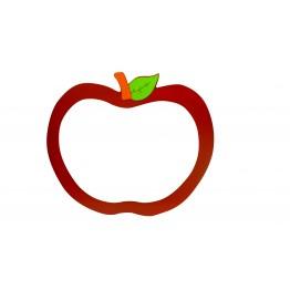 Kırmızı  Elma Figürlü Yazı Tahtası