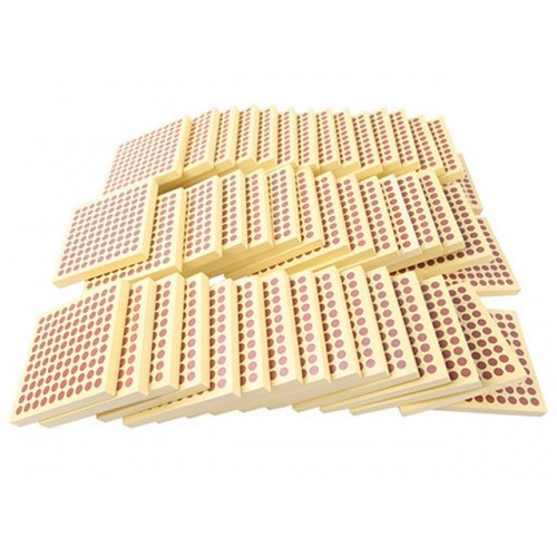45 PARÇA 100 LÜ AHŞAP PLAKA - 45 PCS WOODEN BLOCKS WITH HUNDRED DOT