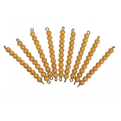 9 ADET 10 LU BONCUK BARLAR - 9 GOLDEN BEAD BARS OF TEN