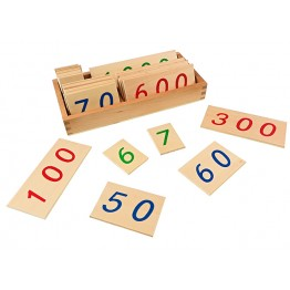 AHŞAP RAKAM KARTLARI - LARGE WOODEN NUMBER CARDS WITH BOX (1-1000)