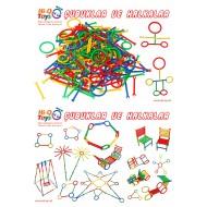 ÇUBUKLAR VE HALKALAR LEGO (POŞETLİ) 260 PARÇA