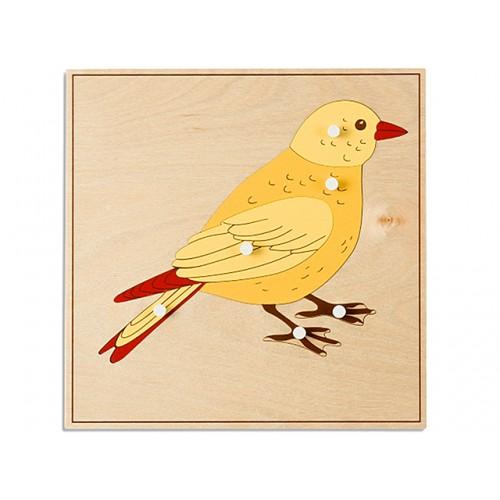 KUŞ PAZIL - BIRD PUZZLE (PLYWOOD, NEW)