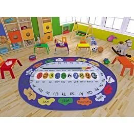 Renkler ve Sayılar Çocuk Halısı