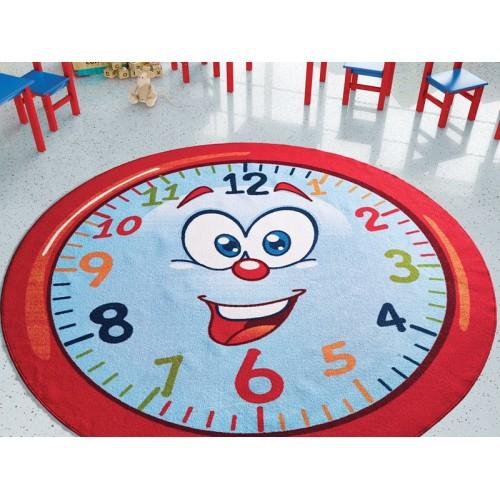 Sevimli Saat (Kaymayan) Çocuk Halısı modelleri, Sevimli Saat (Kaymayan) Çocuk Halısı fiyatı, anaokulu Oyun Halıları fiyatları, anasınıfı Oyun Halıları modelleri görselleri ve resimleri, anaokulu kreş malzemeleri