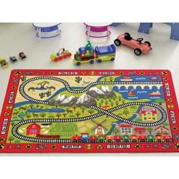 Tren Yolu Çocuk Halısı