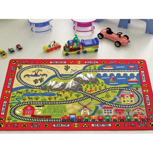 Tren Yolu Çocuk Halısı modelleri, Tren Yolu Çocuk Halısı fiyatı, anaokulu Oyun Halıları fiyatları, anasınıfı Oyun Halıları modelleri görselleri ve resimleri, anaokulu kreş malzemeleri